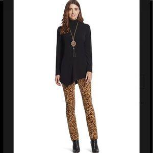 Chico's Tonal Leopard Corduroy Slim Pants Sz 0 4
